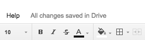 Status Messages: Google drive keeps you informed that your hard work is okay.