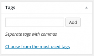 Form Help: WordPress admin